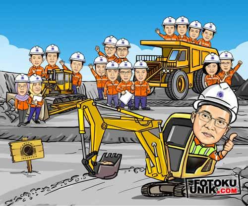 karikatur group Arutmin Indonesia